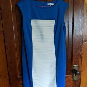 Sandra Darren blue and white dress